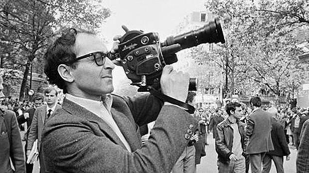 Godard rodando en París