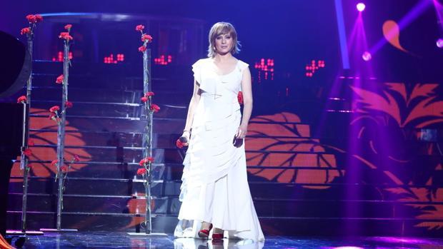 María Villalón, en la gala final de «Tu cara me suena»