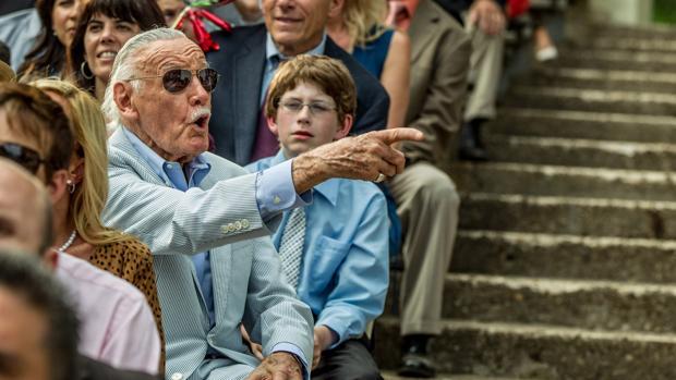 Stan Lee en Spiderman