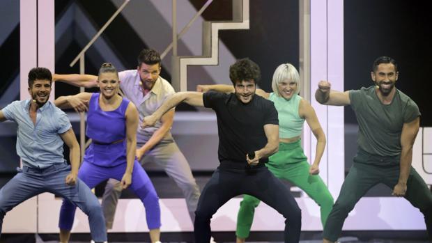 Miki durante un momento de su actuación sobre el escenario de la Expo de Tel Aviv