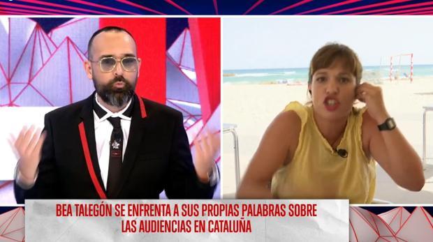 La periodista Beatriz Talegón discutiendo con Risto Mejide en «Todo es mentira»