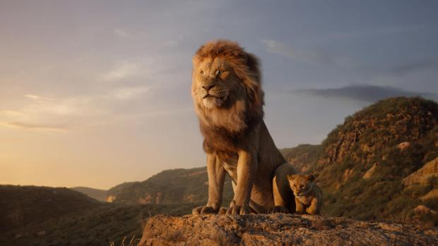 Fotograma de la película de acción real de «El Rey León»