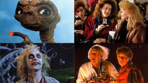 Escenas de «Regreso al futuro», «Armas de mujer», «Bitelchús» y «E.T»