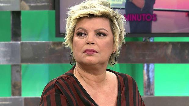 Terelu Campos en el plató de «Sálvame»