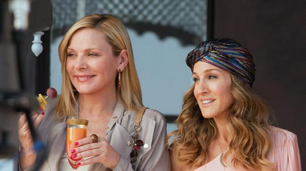 Sarah Jessica Parker y Kim Cattrall en la película de «Sexo en Nueva York 2»