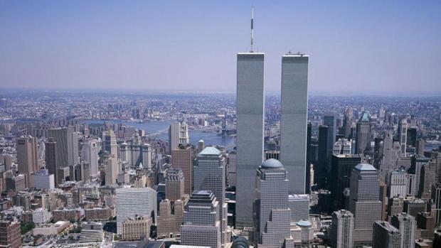 Panorámica del centro financiero de Manhattan, antes de los atentados