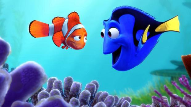 Marlin y Dory en «Buscando a Dory»