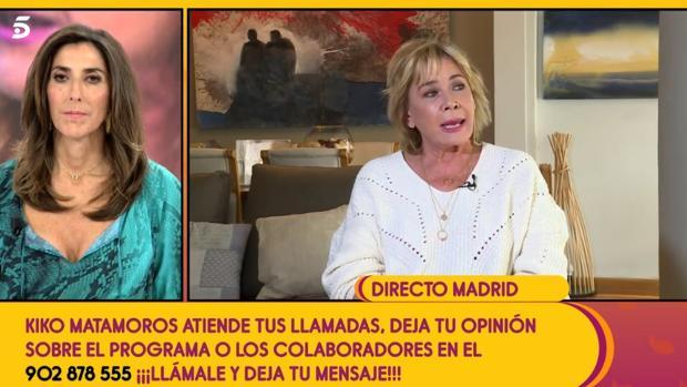 Mila Ximénez habla con Paz Padilla, este martes en «Sálvame»