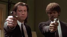 Vincent Vega (John Travolta) y Jules Winnfield (Samuel L. Jackson), en «Pulp Fiction»