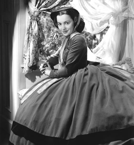 Olivia de Havilland, como Melania en «Lo que el viento se llevó»