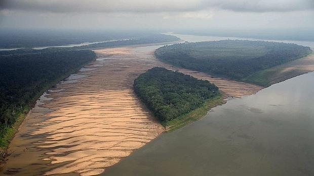 Vista aérea del río Madeira en el estado brasileño de Amazonas