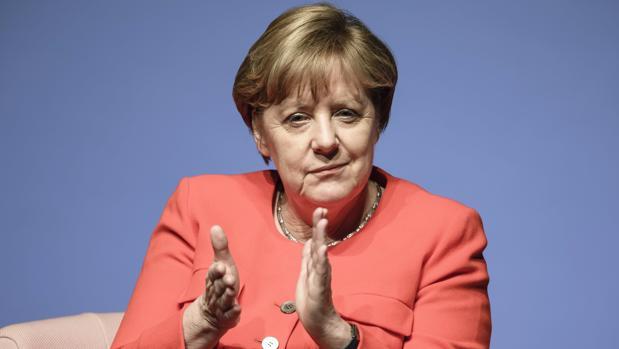 La canciller alemana, Angela Merkel, en el foro de la revista femenina Brigitte