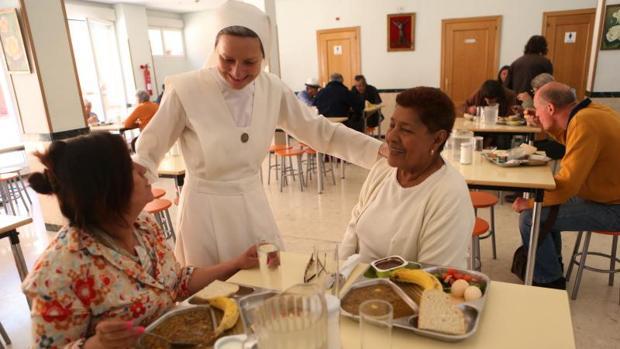 Comedor social de las Siervas de Jesús de la Caridad