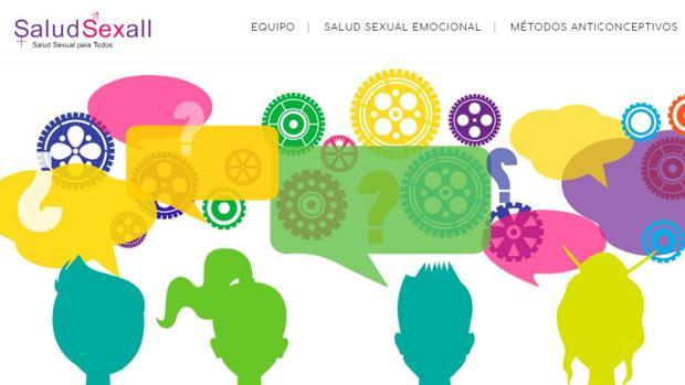 Captura de la página web «Salud sexual para todos»
