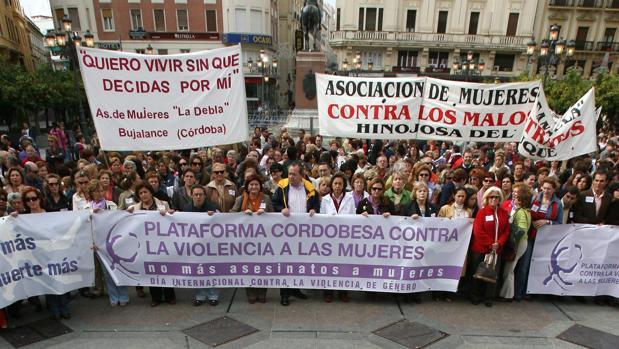 Manifestación contra la violencia de género en Córdoba