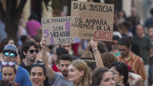 Imagen de archivo de una manifestación contra la sentencia de La Manada