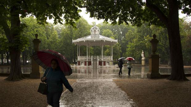 Imagen del Parque de Florida de Vitoria, donde tuvo lugar la agresión sexual