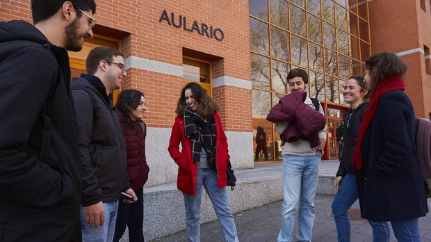 Alumnos universitarios de la Rey Juan Carlos en Madrid