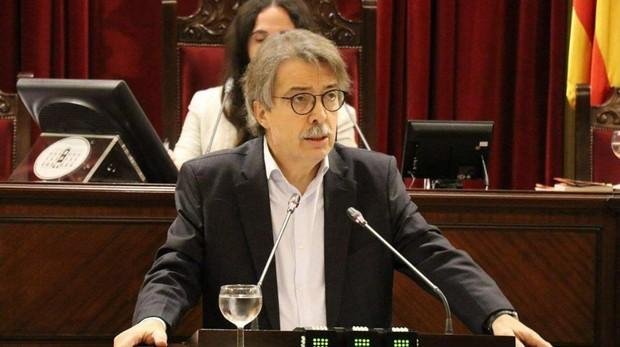 El portavoz de Cs en el Parlamento balear, Xavier Pericay, en una reciente intervención