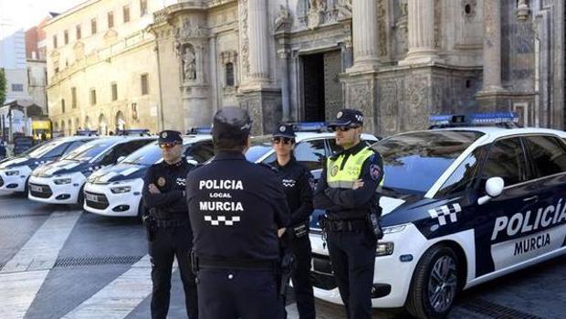 Policías locales de Murcia en una imagen de archivo