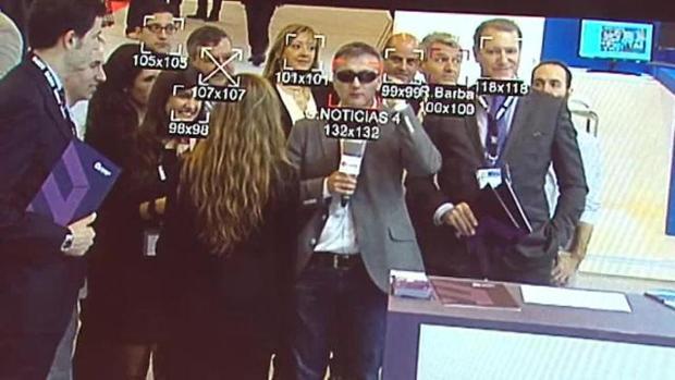 Reconocimiento facial en la feria Mobile World Congress