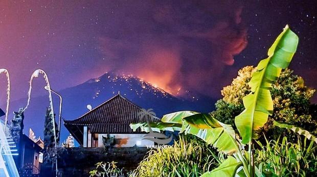 volcán del Monte Agung