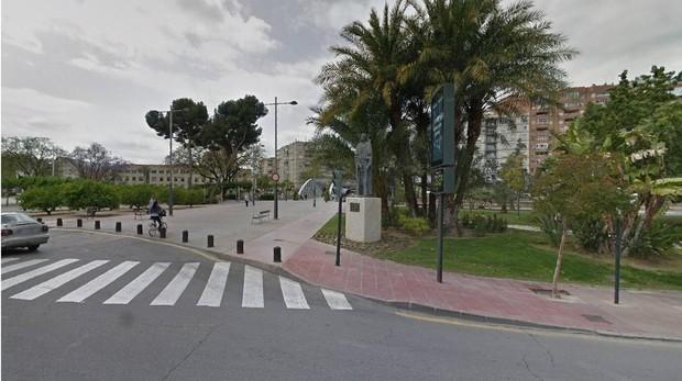 Imagen de la plaza de la Cruz Roja de Murcia