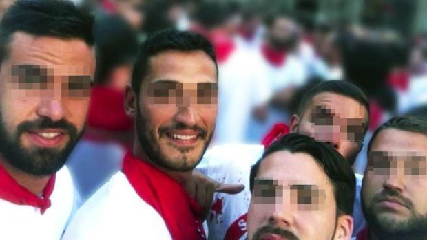 Los cinco de «La Manada», en las horas previas a la supuesta violación grupal de la fiesta de San Fermín