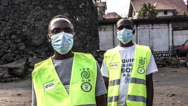 Goma cuenta con numerosos puntos de control sanitarios en los que todos los viajeros deben lavarse las manos