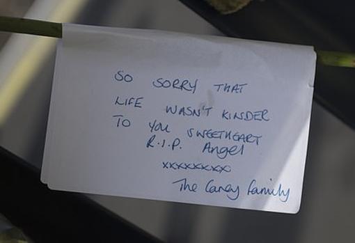 «Descansa en paz ángel, me sabe mal que la vida no fuera más amable contigo» nota de una familia cercana a Sam Connor