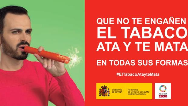 Parte del cartel de la campaña del Ministerio de Sanidad