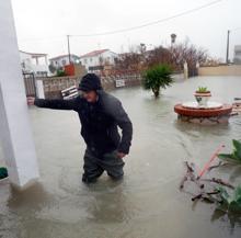 Almenara, en Castellón, inundada