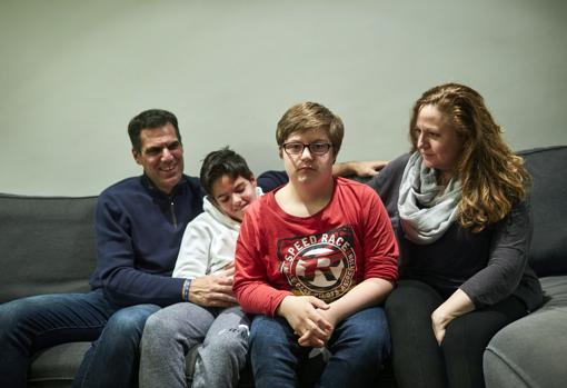 Javier with his family