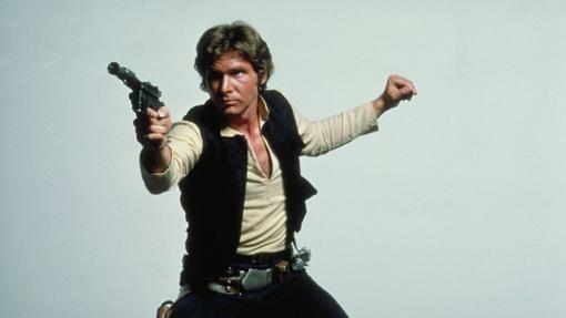 Han Solo con su blaster DL-44