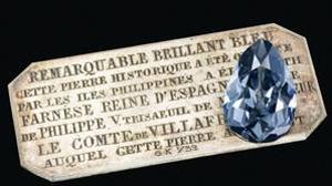Subastastan el lujososo diamante azul de Isabel de Farnesio