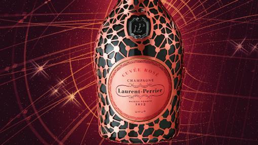 Una botella de Laurent-Perrier Cuvée Rosé Constellation