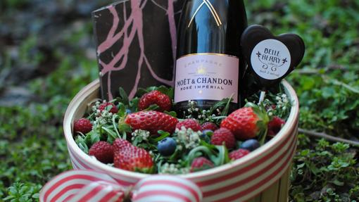 Una de las propuestas de Belleberry Catering para San Valentín