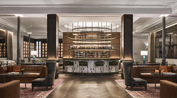 Lobby del Hotel Inglés en Madrid en el que se celebran las jornadas Seagram´s NY