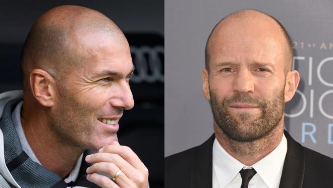 Zidane y Jason Statham apuestan por raparse la cabeza ante su caída capilar.