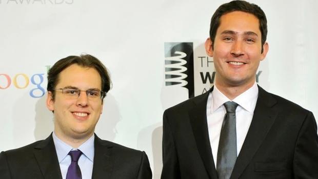 De izquierda a derecha, Mike Kriegery Kevin Systrom