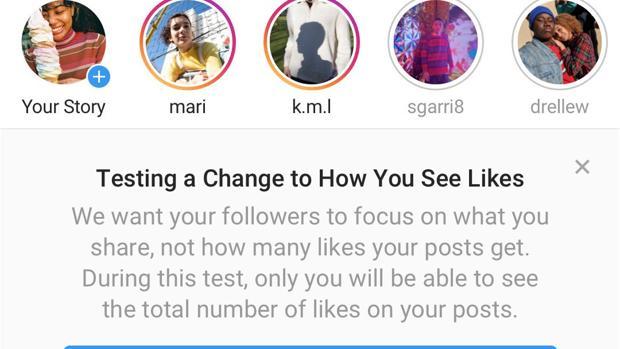 Instagram comienza a eliminar los «Me gusta» en todo el mundo