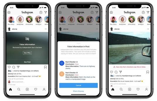 El nuevo truco de Instagram para acabar con el contenido falso en la red social