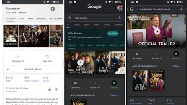 Google crea Watchlist, una función para que el usuario marque las películas que ha visto