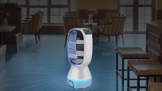 Coronavirus: así es el robot que se encarga de llevar comida a la gente en cuarentena en China