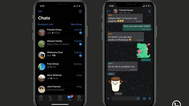 Cómo activar el modo oscuro de WhatsApp en teléfonos iPhone y Android