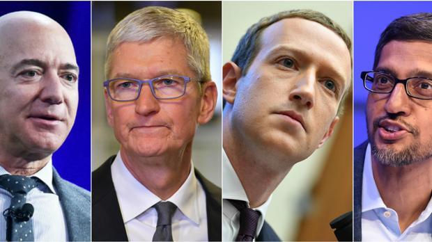 Cómo se defenderán los jefes de Amazon, Google, Apple y Facebook de las acusaciones de monopolio