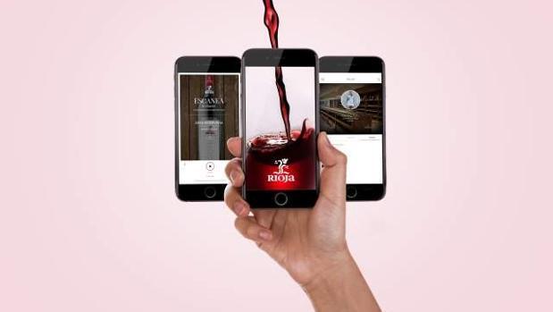Una imagen de la app Riojawine