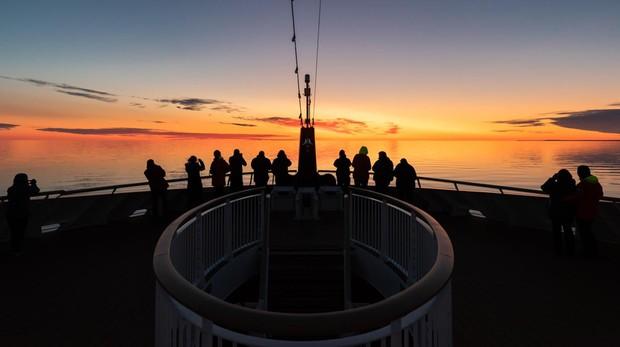 Puente del MS Roald Amundsen, en aguas de Canadá