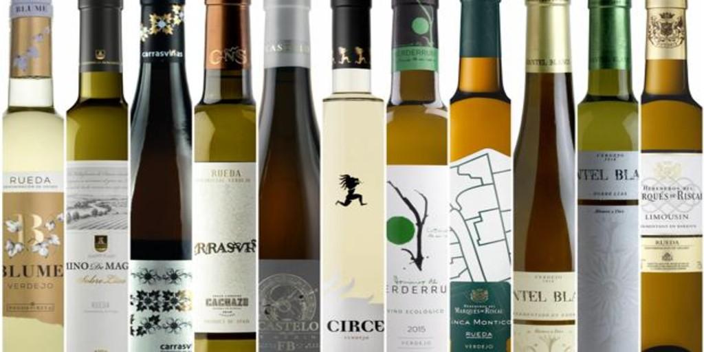 Once verdejos de Rueda entre los que podrás elegir un buen vino blanco