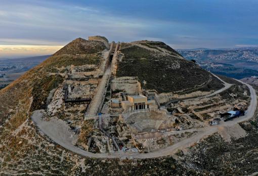 Vista de la fortaleza de Herodium